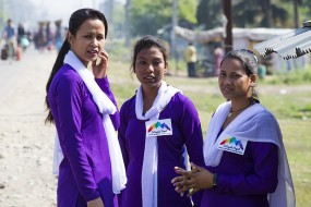 3 Angels Nepal staff at the border