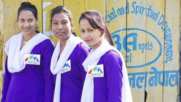 3 Angels Nepal ambassadors try to help the girls